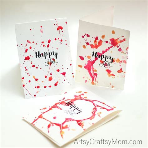holi card ideas colorful paint splatter cards for holi the festival of