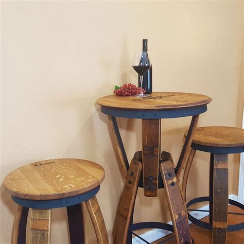 table hour wine barrel hourglass pub table set free shipping