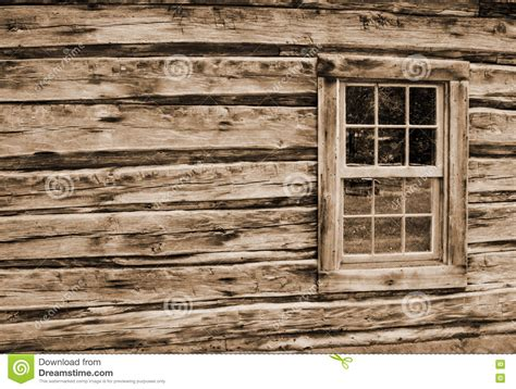 Wall Log Cabin by Log Cabin Wall And Window Stock Image Image Of