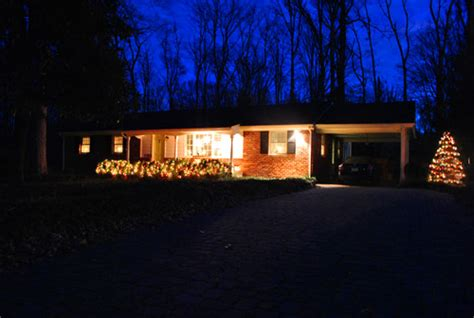 christmas lights ranch style house house and home design