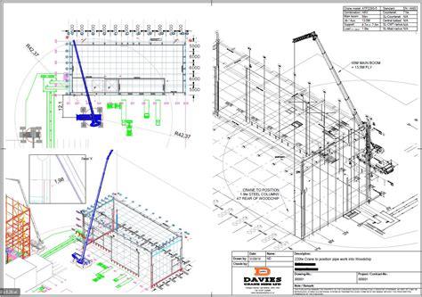 Creative Office Design by Autocad Planning Davies Crane Hire Ltd
