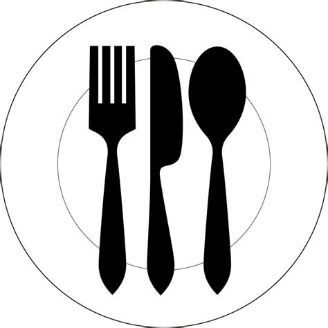 dinner silhouette dinner plate and silverware silhouette www imgkid com