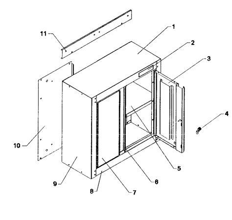 Cupboard Parts - craftsman wall cabinet parts model 706101310 sears