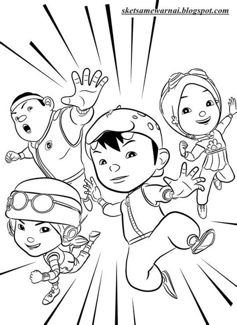 boboiboy coloring lesson kids coloring page coloring