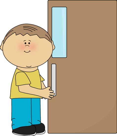 boy open door clipart clipartxtras