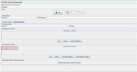 regex pattern for url regex jmeter url patterns to exclude under workbench
