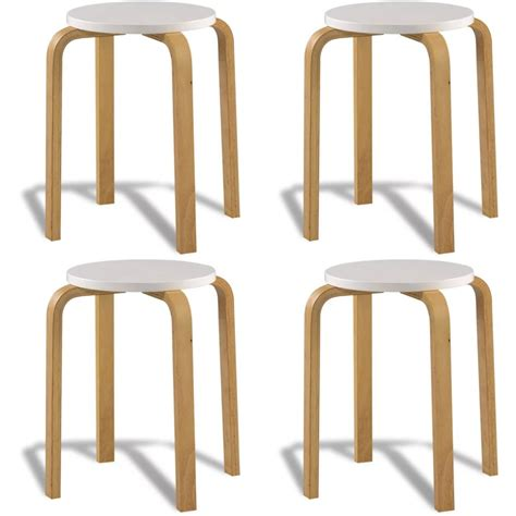 white bentwood counter stool vidaxl co uk 4 white stackable solid bentwood stools