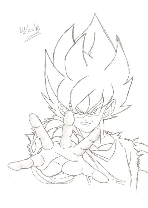 Drawing Goku by Goku Drawing By Wladyb91 On Deviantart