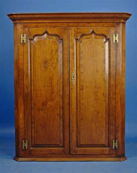 antique georgian hanging corner cabinet for sale