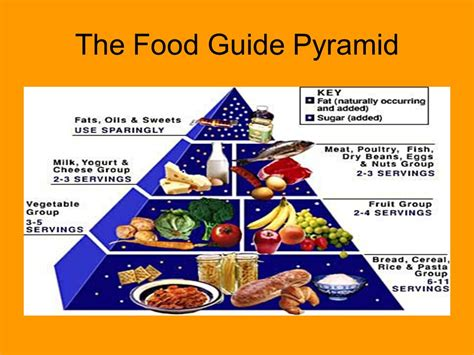 the food guide to the food pyramid food in your ppt