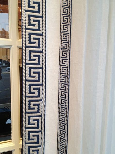 greek key curtains drapes around town fabulous accessories greek key chairs