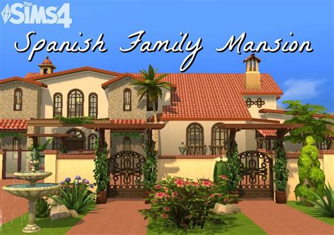 Mediterranean Homes the sims 4 spanish family mansion youtube