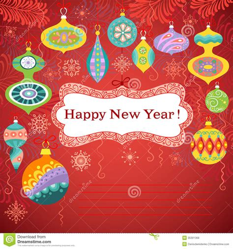 how to make a happy new year card happy new year card stock vector image of banner decor