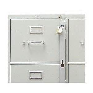 locking bar for use with 1 drawer filing