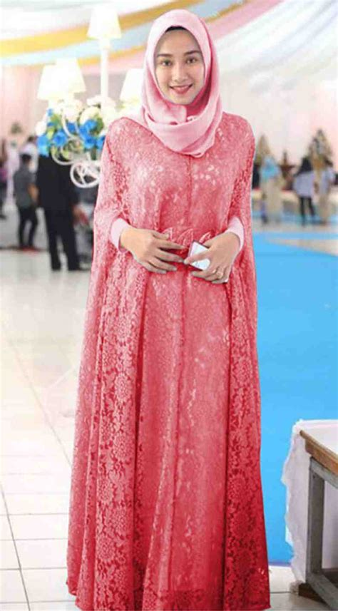 Gamis Pesta Warna Pink baju gamis pesta brokat terbaru renita pink model baju
