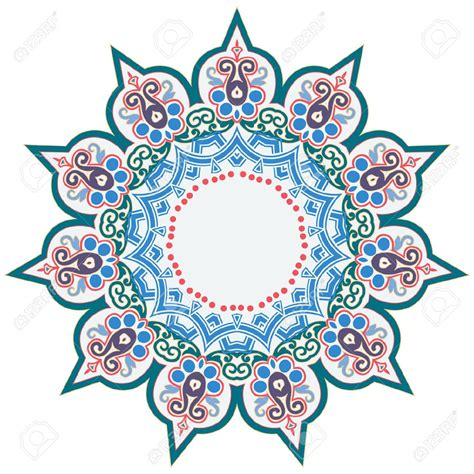 turkish pattern ai vector clipart islamic pencil and in color vector