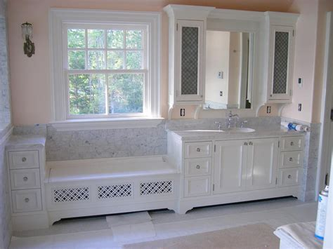 bench in bathroom bathroom storage i like the medicine cabinets never enough room in normal ones and