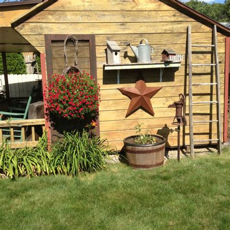 outdoor decorations garden shed country primitive outdoor ideas