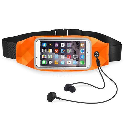 Sport Pouch Belt Orange saapni universal waterproof 5 5 touch screen pouch bag outdoor sports cycling waist belt