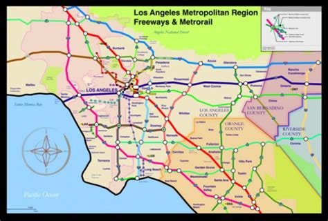 map of los angeles with freeways map of freeways in los angeles images