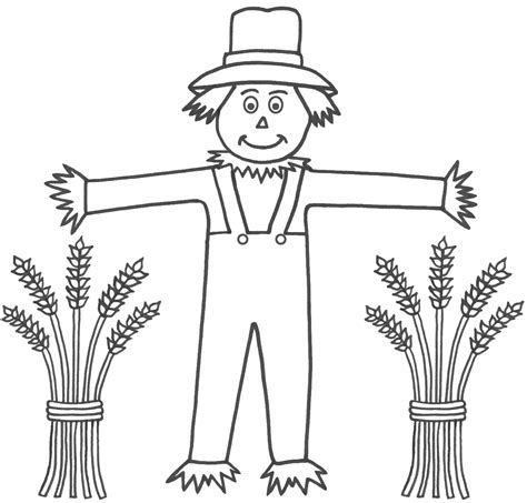 coloring book page template scarecrow template printable kids coloring europe