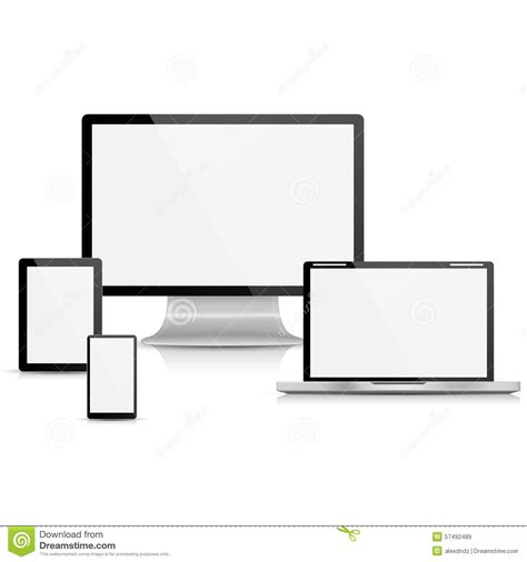 what is a template on a computer collection of realistic vector laptop tablet computer