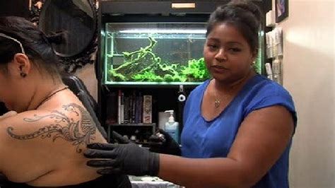 industrial tattoo vandalized owner says sumithra debi explains feminine approach to tattooing