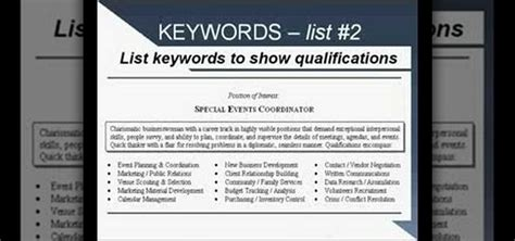 how to write a resume using strong language and keywords 171 resumes wonderhowto
