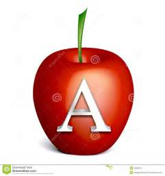 apple with alphabet a stock images image 23082614
