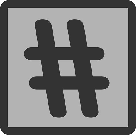 hashtag box frame  vector graphic  pixabay