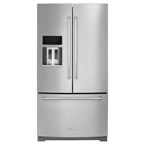 26 Interior Door Home Depot by Kitchenaid 36 In W 26 8 Cu Ft French Door Refrigerator