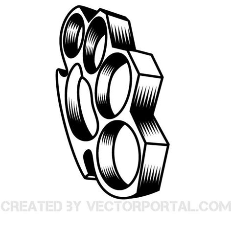 brass knuckles vector graphics eps free vector 365psd com