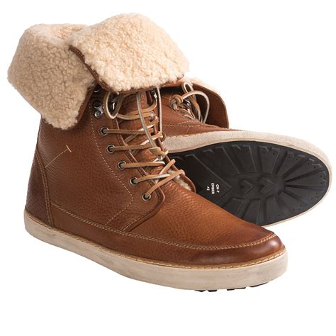 mens shearling boots blackstone cm07 boots shearling lining for save 42