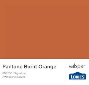 burnt orange valspar and pantone on pinterest