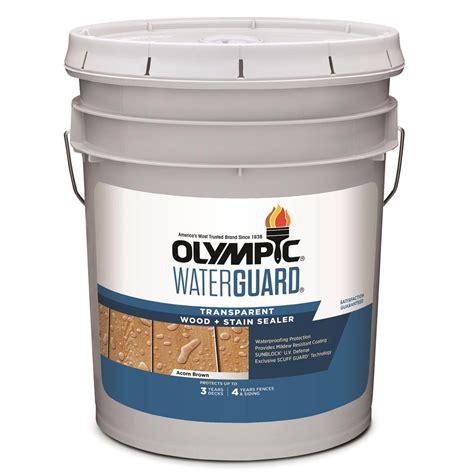 olympic waterguard  gal acorn brown transparent wood
