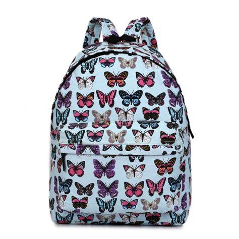 Backpack Butterfly e1401b miss lulu large backpack butterfly blue