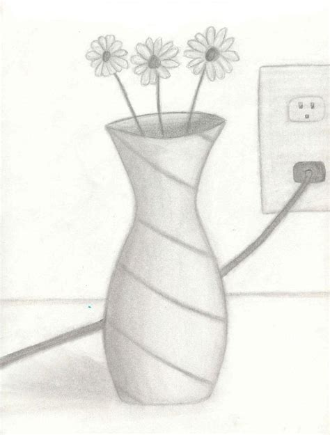 Drawing Of Vase by Shaded Flower Vase By Lordvoldemort788 On Deviantart
