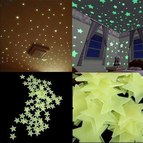 stars home decor aliexpress com buy 100pcs lot glow wall stickers decal