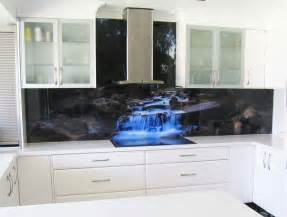 printed glass splashback
