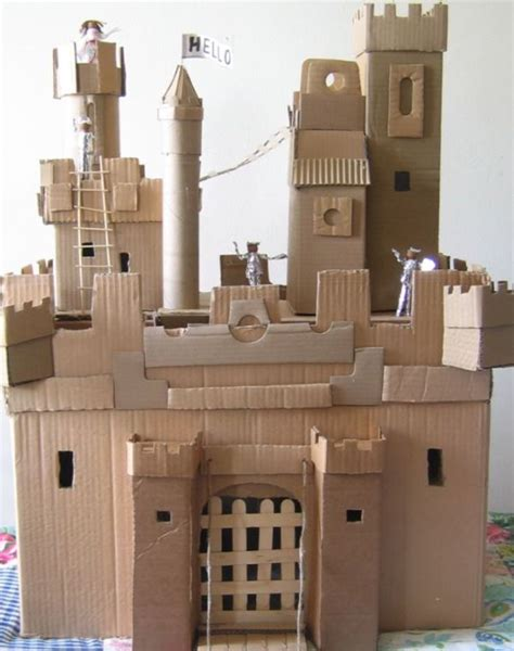 How To Make A Paper Castle - how to make a castle for your using recycled