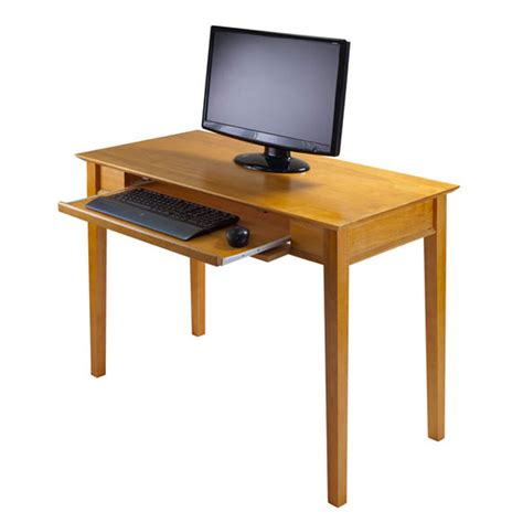 Winsome Wood Studio Computer Desk Honey Pine 99042 Studio Computer Desks