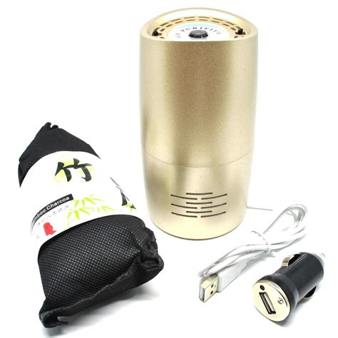 Air Purifier Bandung bottle car air purifier ionizer with bamboo charcoal