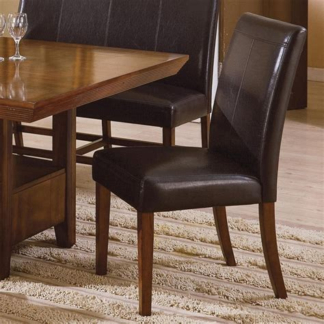 Set Salem 5 salem 5 dining set in warm brown cherry finish by crown 2288s
