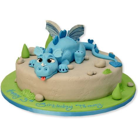 Blue Dragon Cake   Birthday Cakes   The Cake Store