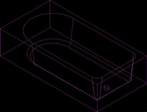 Baignoire Dwg by Bathtub 3d Dwg Model For Autocad Designscad