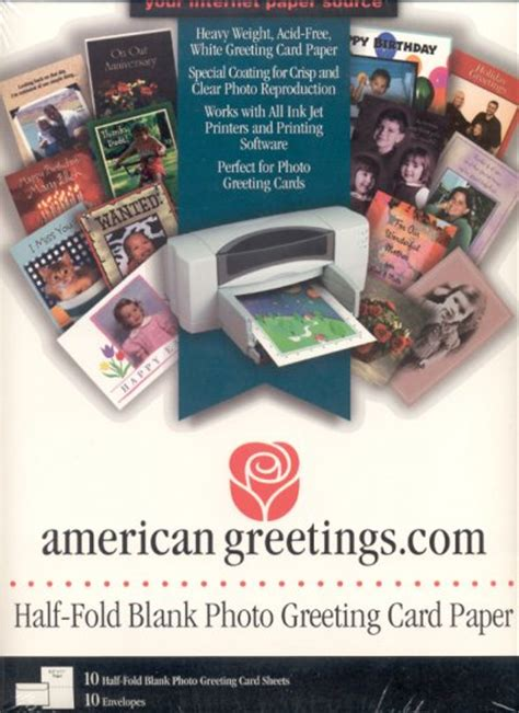Half Fold Greeting Card Paper - american greetings half fold blank photo greeting card paper
