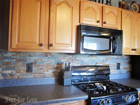 kitchens with stone backsplash stone kitchen backsplash how to nest for less
