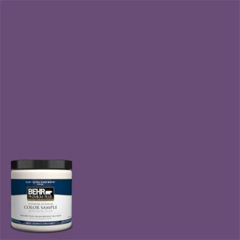 behr premium plus 8 oz 660b 7 purple interior exterior paint sle 660b 7pp the home