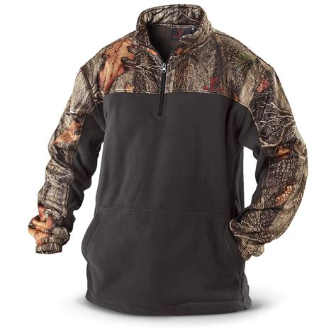 Jaket Parka Two Tone Polos Blackred huntworth 2 tone fleece 1 4 zip pullover jacket 226157 camo shooting shirts at 365 outdoor