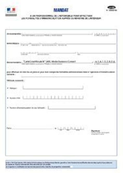 Exemple De Lettre De Procuration G N Rale procuration par mandat d immatriculation 224 carte grise